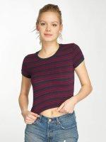Urban Classics t-shirt Rib Stripe Cropped blauw