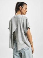 Urban Classics T-Shirt Overlap Turtleneck gris