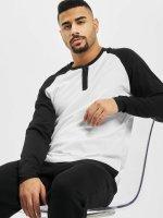 Urban Classics T-Shirt manches longues Contrast Raglan Henley blanc
