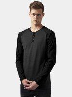 Urban Classics T-Shirt manches longues Contrast Raglan Henley gris