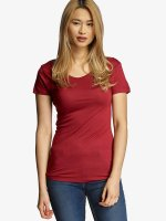 Urban Classics T-Shirt Ladies Basic Viscose rot