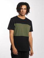 Urban Classics t-shirt Contrast Panel zwart