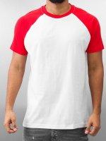 Urban Classics T-Shirty Raglan Contrast bialy
