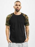 Urban Classics T-Shirty Raglan Contrast czarny