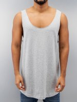 Urban Classics Tank Tops Long Shaped Open Edge Loose grau