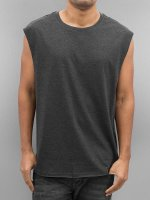 Urban Classics Tank Tops Open Edge Sleeveless grau