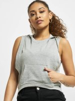 Urban Classics Tank Tops Terry Hooded grey