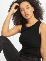 Urban Classics Tank Tops Lace Up Cropped musta