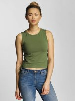 Urban Classics Tank Tops Lace Up Cropped oliivi