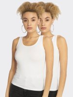 Urban Classics Tank Tops 2-Pack Basic Stretch valkoinen