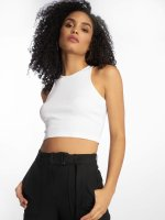Urban Classics Tank Tops Cropped Rib white