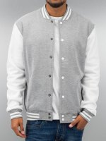 Urban Classics Teddy 2-Tone College Sweatjacket gris