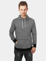 Urban Classics Tröja Melange High Neck Knitted grå