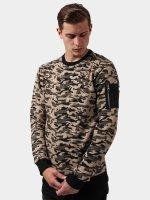 Urban Classics trui Sweat Camo Bomber camouflage