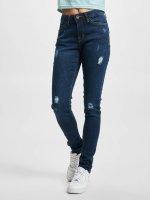 Urban Classics Tynne bukser Ripped Denim blå