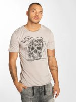 Urban Surface T-paidat Skull Wood harmaa