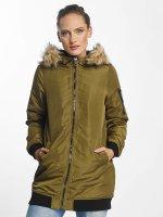Vero Moda Пальто vmDicte Fake Fur 3/4 J оливковый