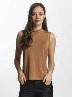 Vero Moda Hihattomat paidat vmBina ruskea
