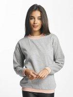 Vero Moda Pullover vmIsabella Rib Stripe grau