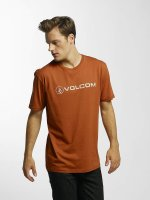 Volcom T-paidat Line Euro Basic ruskea