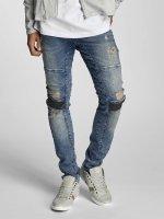 VSCT Clubwear dżinsy przylegające Arnachy Heavy Biker niebieski