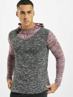 VSCT Clubwear Hoodie 2 Btn Hooded Moulinee 2 Colour red