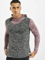 VSCT Clubwear Hoody 2 Btn Hooded Moulinee 2 Colour rood