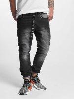 VSCT Clubwear Jean carotte antifit Drake Asym Buttonfly noir