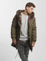 VSCT Clubwear Manteau hiver Double-Zipper kaki