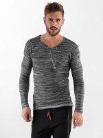 VSCT Clubwear Pitkähihaiset paidat Clubwear V Neck Knit Optics harmaa
