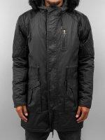 VSCT Clubwear Płaszcze Coated Hooded czarny