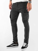 VSCT Clubwear Spodnie Chino/Cargo Thor Slim czarny