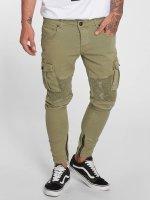 VSCT Clubwear Spodnie Chino/Cargo Keanu Biker khaki