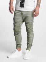 VSCT Clubwear Spodnie wizytowe Noah Biker khaki