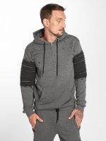 VSCT Clubwear Sweat capuche zippé Oiled gris