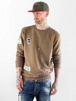 VSCT Clubwear Swetry Customized Patch Crew khaki