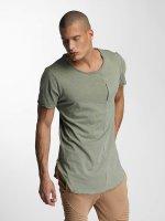 VSCT Clubwear t-shirt Flamed Pkt khaki