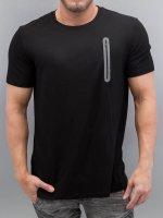 VSCT Clubwear T-Shirty Zip Pocket czarny