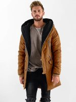VSCT Clubwear winterjas Double-Zipper Huge Luxury Sherpa bruin