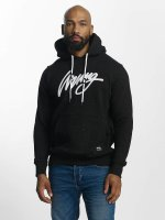 Wrung Division Hoodie Heather Sign svart
