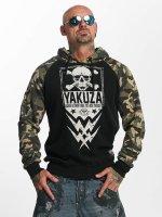 Yakuza Hoodie Skull Two Face black