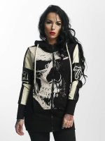 Yakuza Hoodies con zip Skull Mixed nero