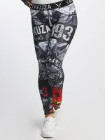 Yakuza Legging Flaming Flowers zwart