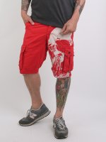 Yakuza Pantalón cortos Skull rojo
