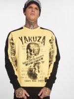 Yakuza Pullover Love Hate yellow