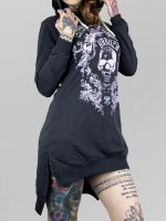 Yakuza Sukienki Skull Hooded niebieski