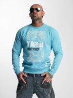 Yakuza Swetry No Matter niebieski