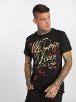 Yakuza T-Shirt We Come In Peace noir