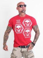Yakuza T-shirt Skull Collection röd