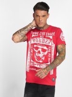 Yakuza T-shirt Kiss My XXX Two Face rosso